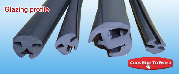 L shape foam rubber extrusions