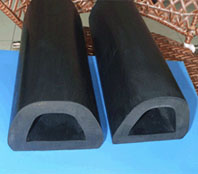 D shape rubber extruded/rubber fender